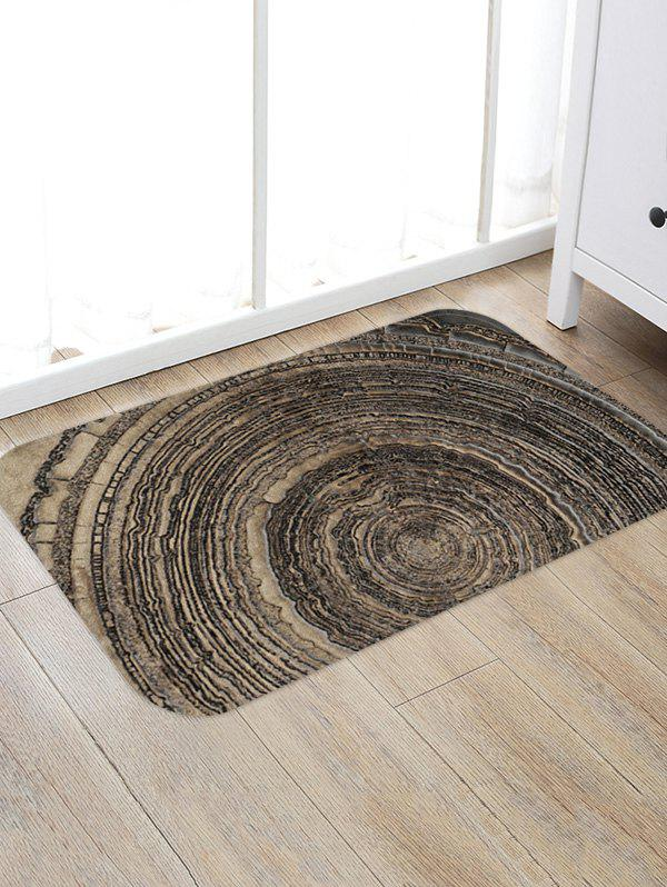 Wood Grain Growth Ring Anti-slip Floor Rug - multicolor A W20 X L31.5 INCH