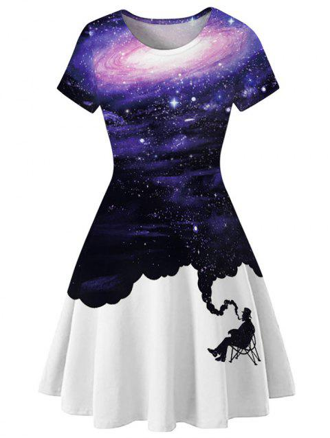 Robe à manches courtes Galaxy A Line - multicolor C XL