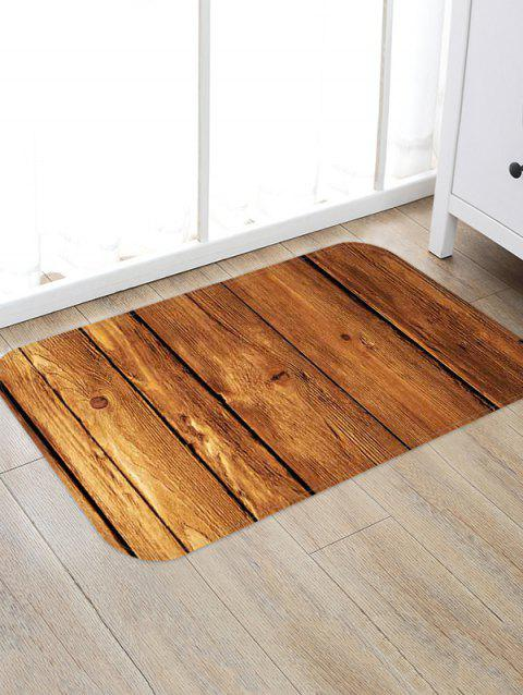 3D Wooden Pattern Printed Floor Mat - multicolor E W20 X L31.5 INCH