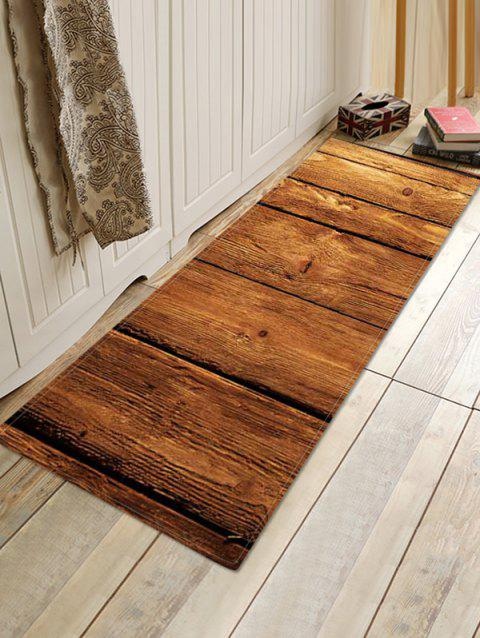 3D Wooden Pattern Printed Floor Mat - multicolor E W16 X L47 INCH