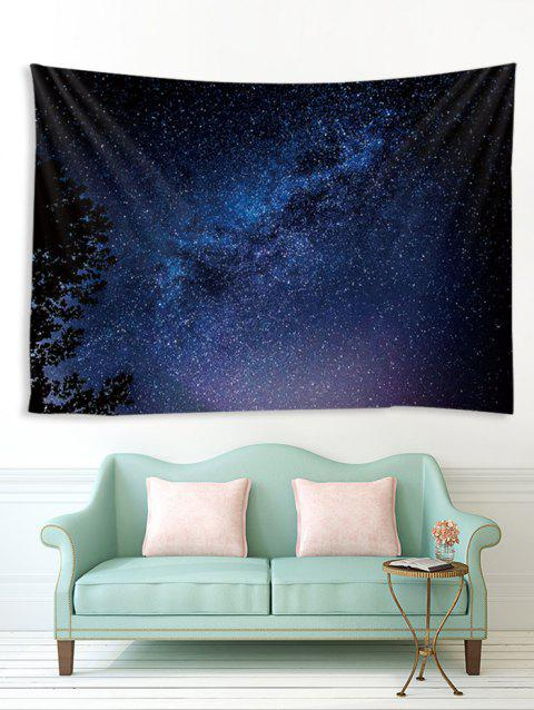 Treetop Galaxy Print Tapestry Wall Hanging Art Decoration - multicolor A W79 X L59 INCH