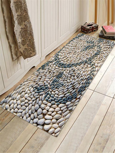 Cobblestone Pattern Decor Rug - GRAY W16 X L47 INCH