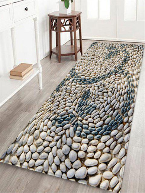 Cobblestone Pattern Decor Rug - GRAY W24 X L71 INCH