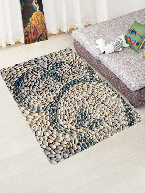 Cobblestone Pattern Decor Rug - GRAY W47 X L63 INCH