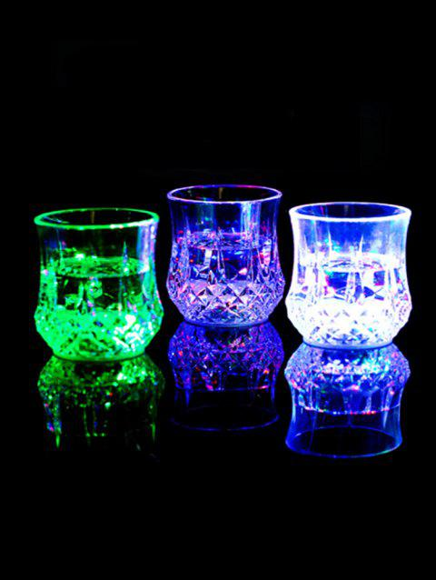 Pineapple Shape Bright Light LED Colorful Glowing Cup - TRANSPARENT
