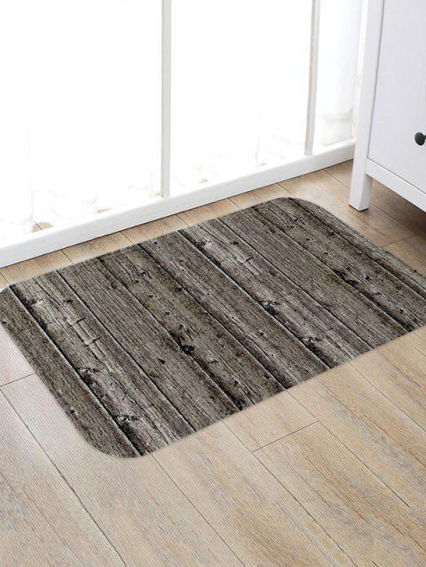 Vintage Wood Grain Flannel Anti-slip Floor Rug - multicolor A W20 X L31.5 INCH