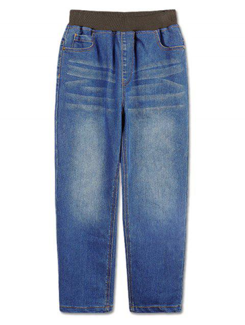 Boys Rolled Hem Causal Straight Jeans - JEANS BLUE 110