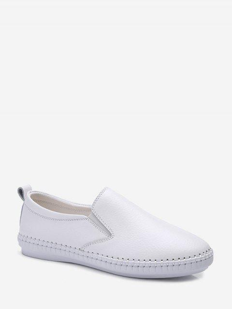 Casual Solid Color Flat Heel Shoes - WHITE EU 41