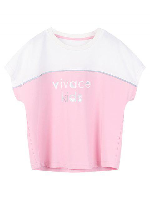Kids Print Casual T-shirt - PINK 110