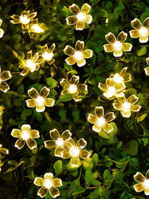 7 Meters Outdoor Flower Shape Waterproof Solar String Lights - WARM WHITE