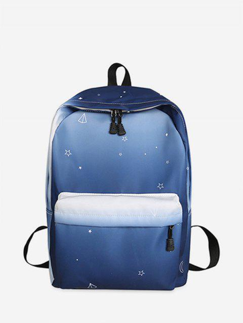 Star Print Gradient Canvas Backpack