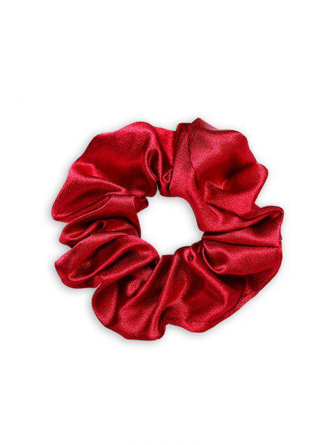 Solid Satin Brief Elastic Scrunchy - RED