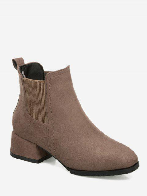 Plain Chunky Heel Chelsea Ankle Boots