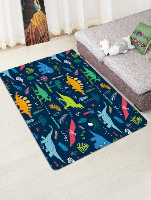 Cartoon Dinosaur Printed Floor Mat - LAPIS BLUE W47 X L63 INCH