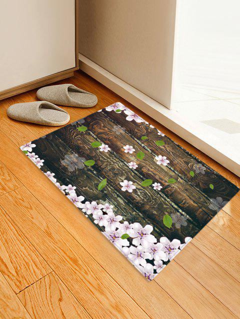 Wooden Board Flowers Patterned Water Absorption Area Rug - TAUPE W24 X L35.5 INCH