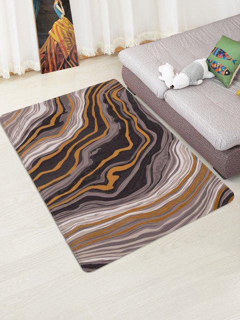 Agate Pattern Water Absorption Area Rug - WOOD W47 X L63 INCH