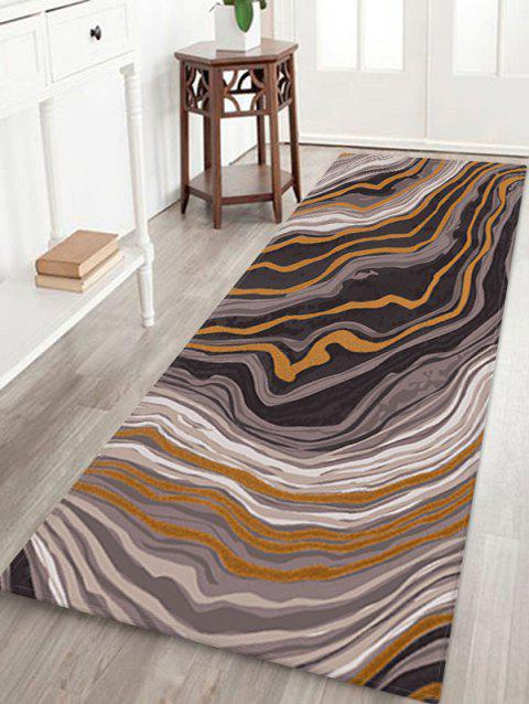 Agate Pattern Water Absorption Area Rug - WOOD W24 X L71 INCH
