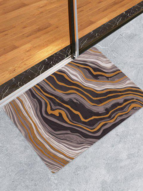 Agate Pattern Water Absorption Area Rug - WOOD W16 X L24 INCH