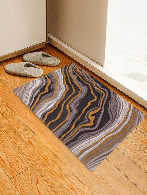 Agate Pattern Water Absorption Area Rug - WOOD W24 X L35.5 INCH