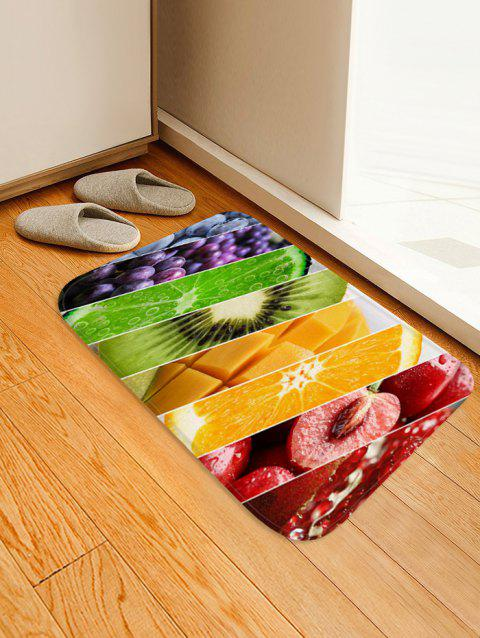Fruit 3D Print Flannel Anti-slip Floor Rug - multicolor A W16 X L24 INCH