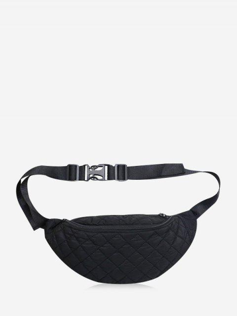 Plain Quilted Casual Funny Pack - BLACK