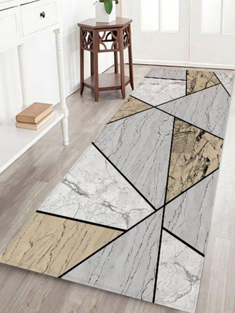 Geometric Marble Printed Floor Mat - multicolor A W24 X L71 INCH