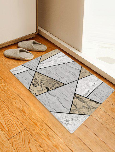 Geometric Marble Printed Floor Mat - multicolor A W16 X L24 INCH