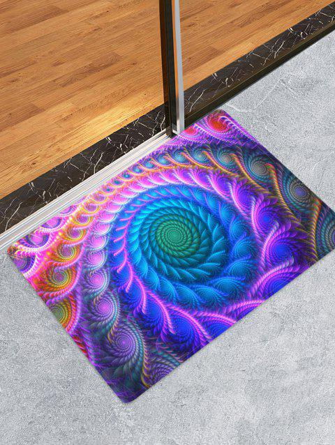 Bohemian Abstract Floral Printed Floor Mat - PURPLE FLOWER W16 X L24 INCH