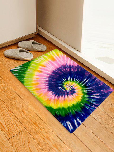 Spiral Tie Dye Pattern Water Absorption Area Rug - PURPLE AMETHYST W24 X L35.5 INCH