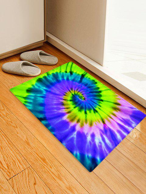 Non-Slip Quick Dry Spiral Psychedelic Floor Pad Rug - GREEN SNAKE W16 X L24 INCH