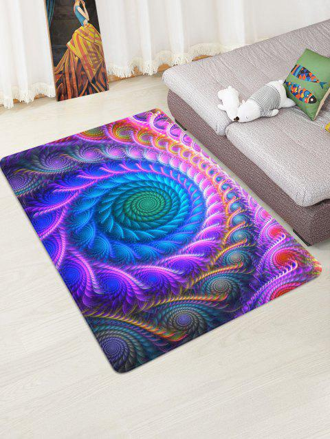 Bohemian Abstract Floral Printed Floor Mat - PURPLE FLOWER W47 X L63 INCH