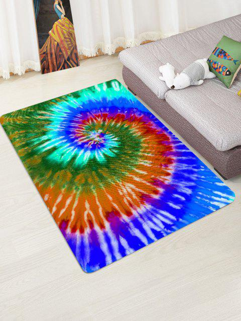 Abstract Vortex Print Floor Mat - OCEAN BLUE W47 X L63 INCH