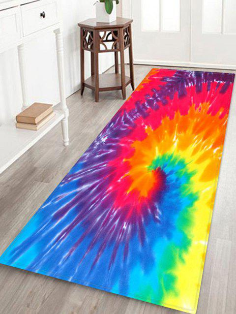 Non-Slip Quick Dry Spiral Psychedelic Floor Rug - RED W24 X L71 INCH