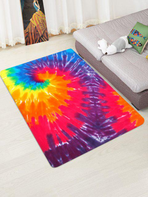 Non-Slip Quick Dry Spiral Psychedelic Floor Rug - RED W47 X L63 INCH