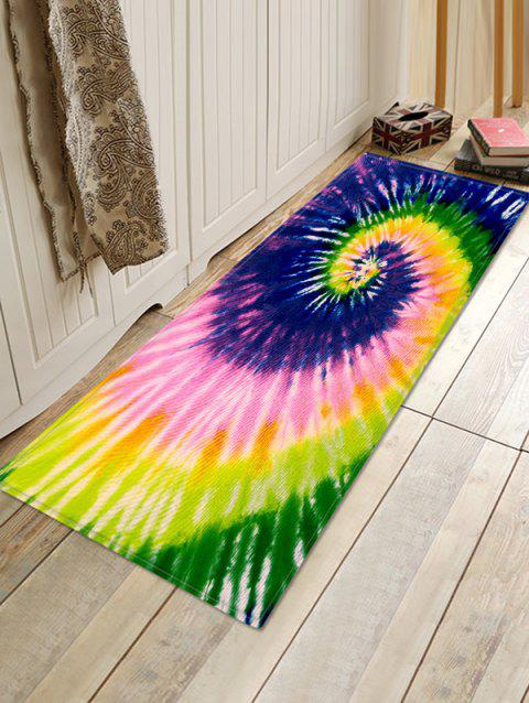 Spiral Tie Dye Pattern Water Absorption Area Rug - PURPLE AMETHYST W16 X L47 INCH
