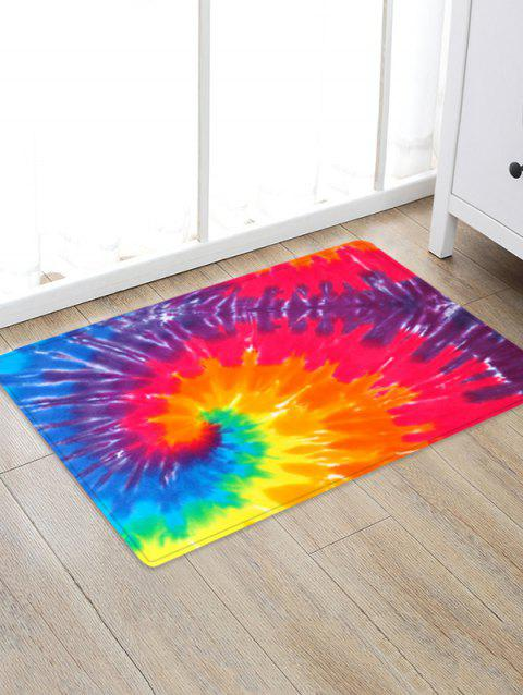 Non-Slip Quick Dry Spiral Psychedelic Floor Rug - RED W24 X L35.5 INCH