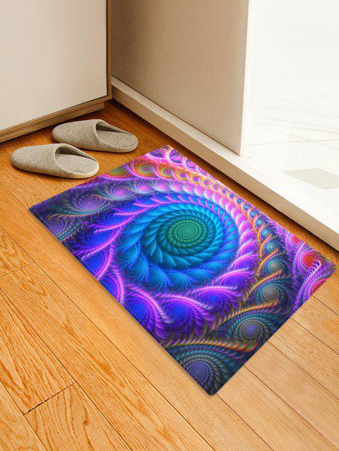 Bohemian Abstract Floral Printed Floor Mat - PURPLE FLOWER W24 X L35.5 INCH