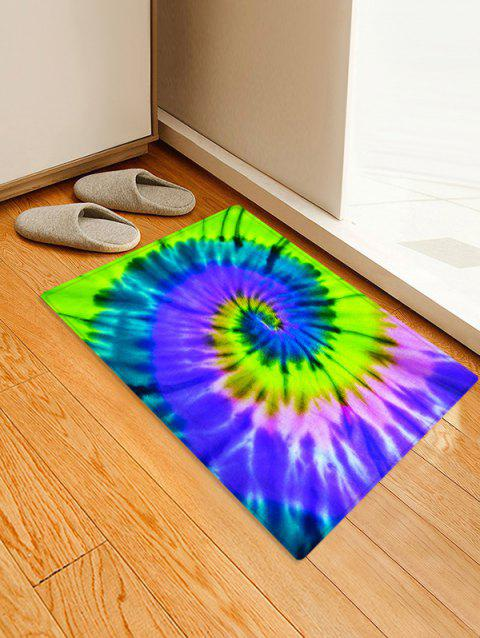Non-Slip Quick Dry Spiral Psychedelic Floor Pad Rug - GREEN SNAKE W24 X L35.5 INCH