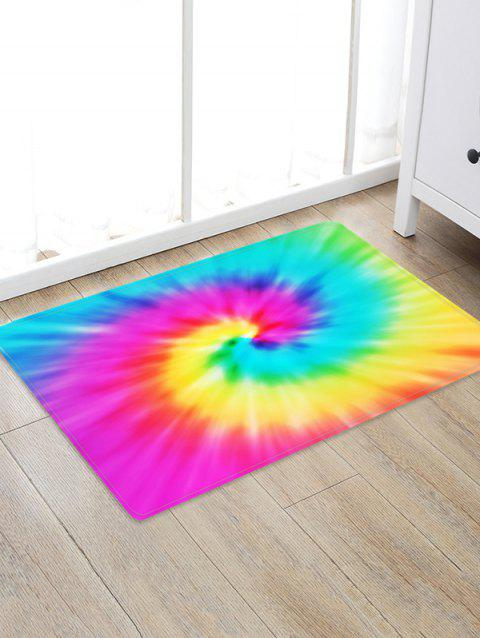 Abstract Vortex Printed Floor Rug - ROSE RED W24 X L35.5 INCH