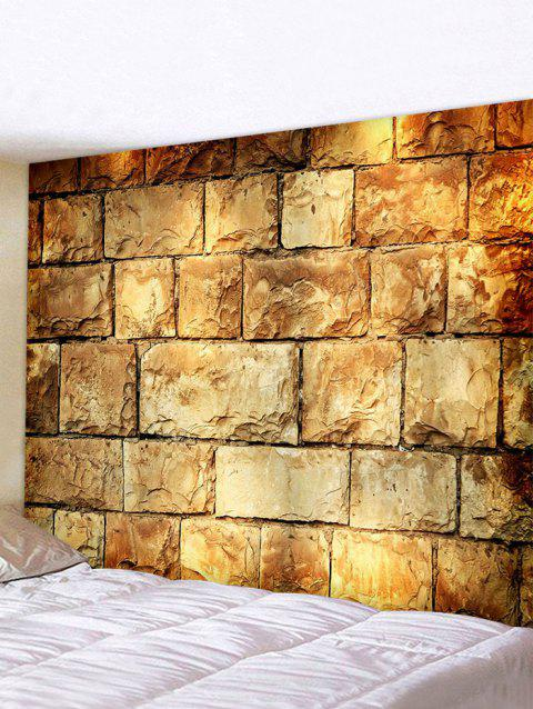 Brick Wall Printed Tapestry Wall Hanging Decoration - multicolor A 150*130CM