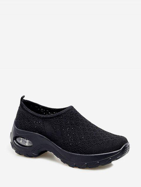 Slip On Breathable Platform Sneakers - BLACK EU 41