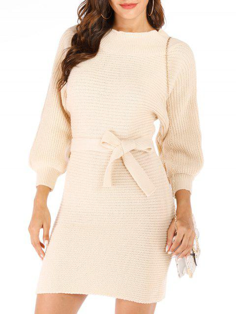 Convertible Bodycon Jumper Dress - BLANCHED ALMOND ONE SIZE