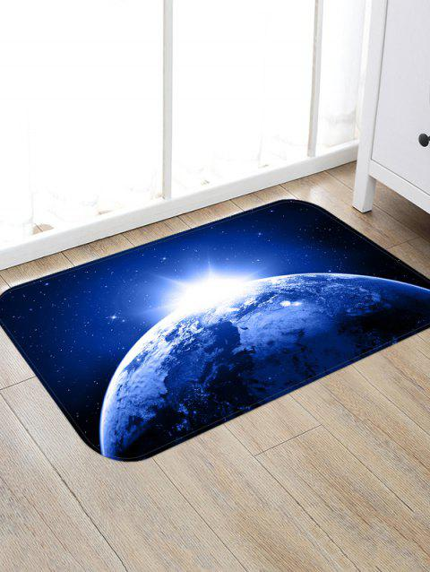 Non-Slip Quick Dry Space Print Floor Pad Rug - MIDNIGHT BLUE W20 X L31.5 INCH