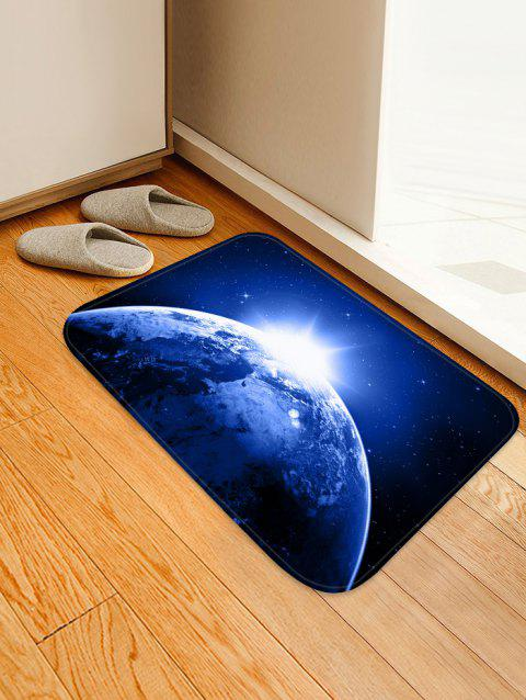Non-Slip Quick Dry Space Print Floor Pad Rug - MIDNIGHT BLUE W16 X L24 INCH