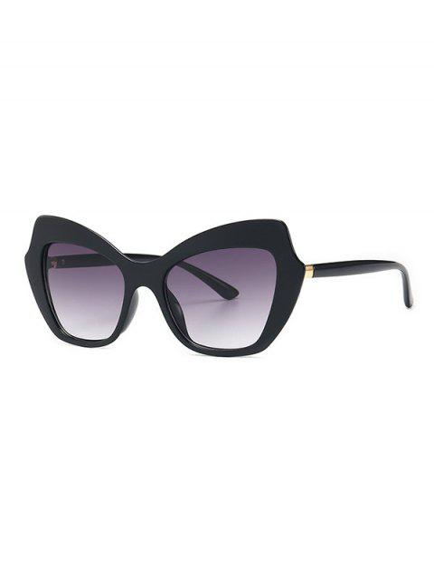 Vintage Butterfly Shape Gradient Sunglasses - BLACK