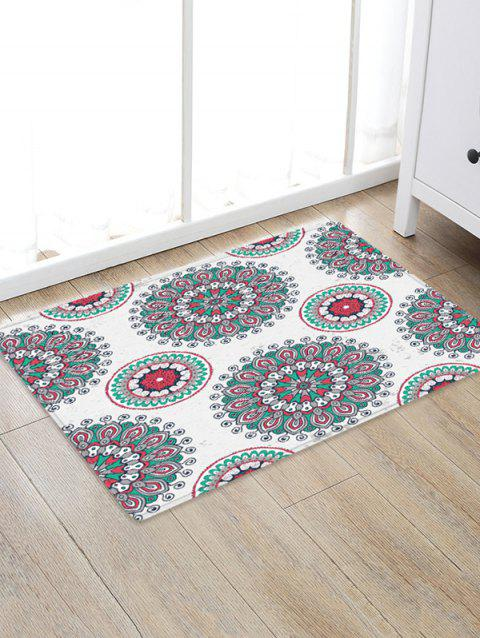 Bohemian Floral Printed Floor Rug - COOL WHITE W24 X L35.5 INCH