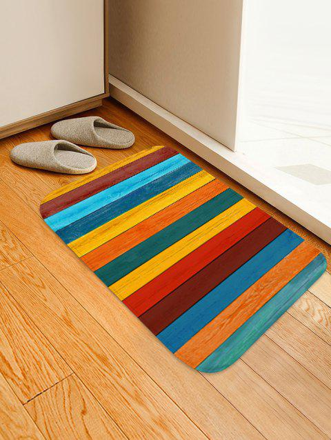 Colorful Wooden Printed Floor Rug - CORN YELLOW W16 X L24 INCH