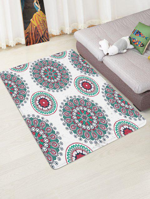 Bohemian Floral Printed Floor Rug - COOL WHITE W47 X L63 INCH