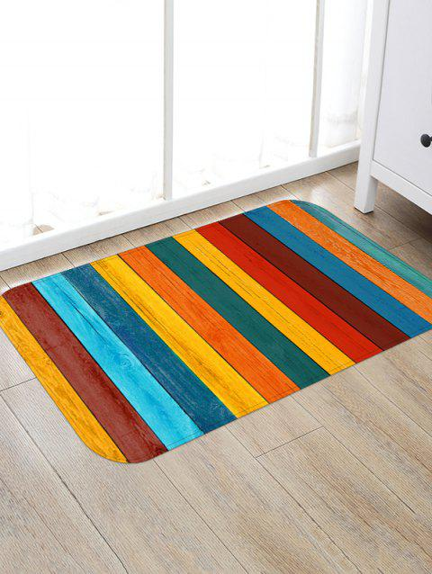 Colorful Wooden Printed Floor Rug - CORN YELLOW W20 X L31.5 INCH