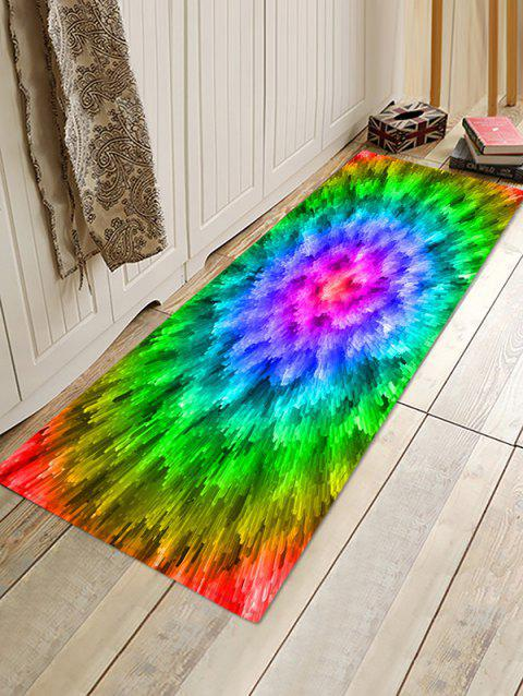 3D Abstract Printed Floor Rug - YELLOW GREEN W24 X L71 INCH